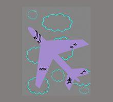 Aircraft in flight by JoAnnFineArt