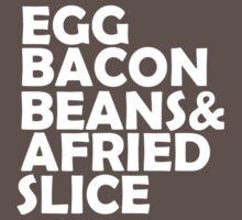 Egg Bacon beans by Freshteez67
