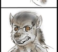 Werewolf transformation 1 by Furiarossa