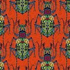 flower beetle orange by Sharon Turner