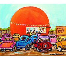 CANADIAN ART COLORFUL CANADIAN PAINTINGS POPULAR MONTREAL DRIVE-INS CAROLE SPANDAU Photographic Print