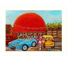ORANGE JULEP MONTREAL PAINTINGS Art Print