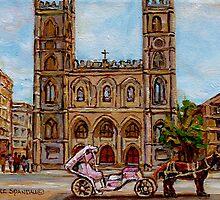 EGLISE NOTRE DAME CHURCH MONTREAL by Carole  Spandau