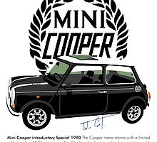 Classic 1990 Mini Cooper Special black by car2oonz