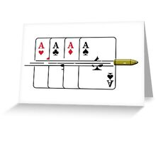 Shoot the Deck of Cards Greeting Card