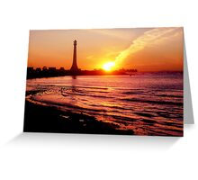 Sun Bombs St Kilda Lighthouse and Misses! Greeting Card