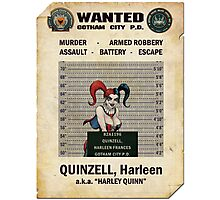 Harley Quinn - Gotham's Most Wanted Photographic Print