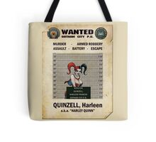 Harley Quinn - Gotham's Most Wanted Tote Bag