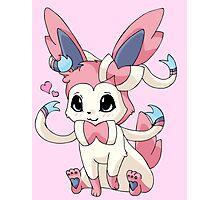 Cutesy Sylveon Pokemon Photographic Print