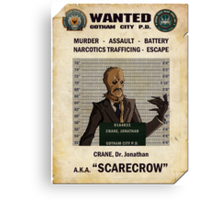 Scarecrow - Gotham's Most Wanted Canvas Print