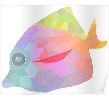 Geometric Fish Poster