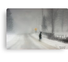 Headed Home:20 inches and Still Coming Down Canvas Print
