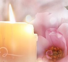 Flower, Candle, Flame by Emma  Wertheim ~