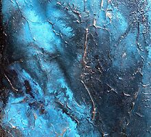Aqua Pura Abstract Water Painting or Metal Wall Art by Artist Holly Anderson  by hollyanderson