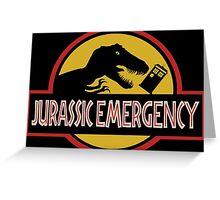 Jurassic Emergency Greeting Card