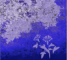 Shades Of Blue Floral by Gary Conner