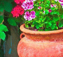Martha's Geraniums - Oil Artwork by Sandra Foster