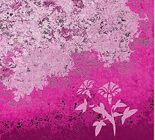 Shades Of Pink Two Floral by Gary Conner