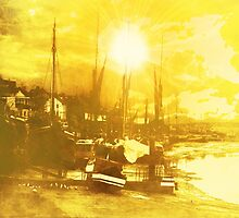 Boats At Sundown  by mindwarp
