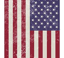 Distressed American Flag by phillyyy