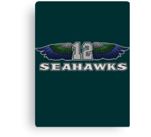 12th Man Seattle Seahawks Wings (SSH-000003) Canvas Print