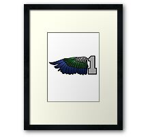 Couple / Buddy / Matching 12th Man Seahawks - Left Side 1 Hawks Wing (SSH-000004) Framed Print