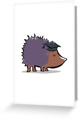educated hedgehog by greendeer