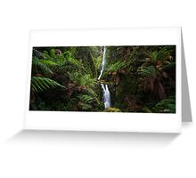 Quaille Falls Panorama Greeting Card