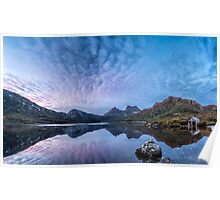 Dove Lake Boatshed Panorama Poster