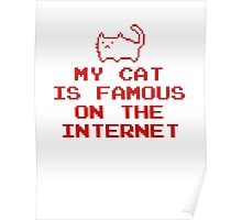 My Cat Is Famous On The Internet Poster