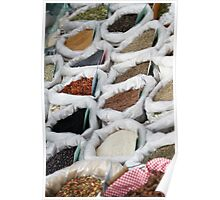 spices at the market Poster