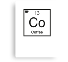 Co Coffee Element Canvas Print