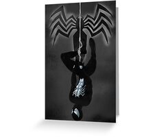 Black Suit Spiderman Greeting Card