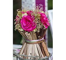 decoration with flowers Photographic Print