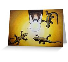 Gecko Light Greeting Card