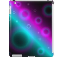Modern Bubbles Abstract Background iPad Case/Skin