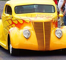 Yellow 1937 Custom Ford Coupe by James Brotherton