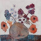 Poppies and roses by Sandrine Pelissier
