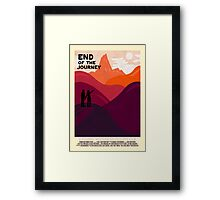 End Of The Journey Framed Print