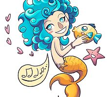 Mermaid and her friends by Cairii