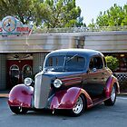 1936 Chevy Coupe at Deco Diner by DaveKoontz