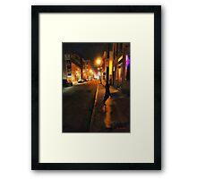 Saturday Night on State Street Framed Print