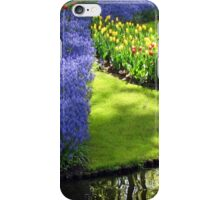 March of the Muscari - Blue Grape Hyacinths iPhone Case/Skin