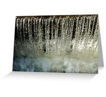 Water, Frozen Greeting Card