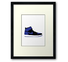 AIR JORDAN I (1) ROYAL Framed Print
