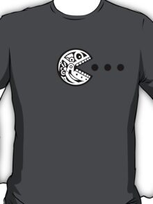 Pac Robot Skull (black white) T-Shirt
