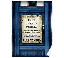 Free For Use Of Public - Tardis Door Sign - iPhone Case Poster