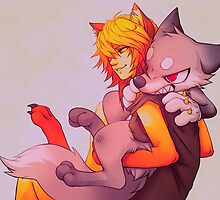 Mitzie and Bommer by falvie