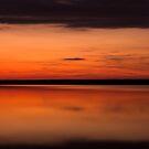 Sunset - Lake Geierswald - Germany by Ronny Falkenstein