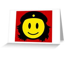 Che Guevera Smiley Greeting Card